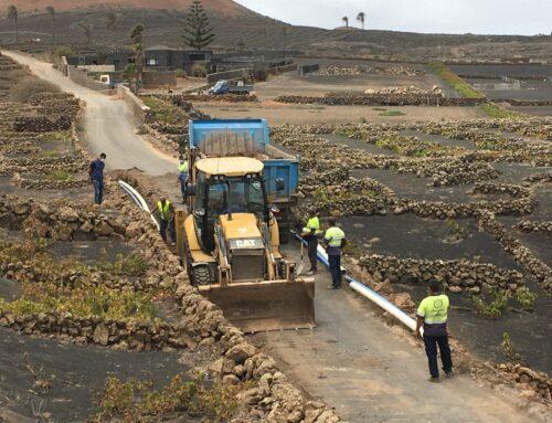 Arrancan las obras de ampliación de la impulsión de aguas de La Vegueta y renovación de la red de abastecimiento en la zona de La Vegueta en Tinajo